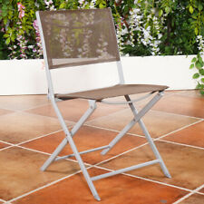 Set of 4 Patio Folding Chairs Portable Outdoor Camping Gaden Pool Furniture