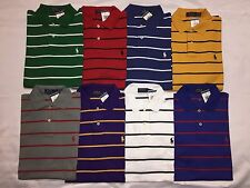 NEW WITH TAGS POLO RALPH LAUREN MEN'S CLASSIC FITSTRIPES POLO SHIRT-VALUE-$89.50