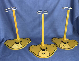 "Build A Bear BABW Bear Head Display Stand For 11-18"" Plush Stuff Animals Yellow"