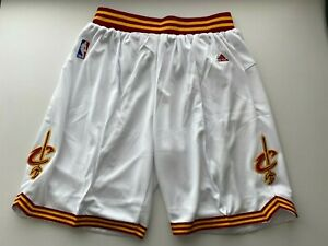 NWT Cleveland Cavaliers White Shorts w/ drawstrings, No Pockets 2XL