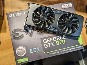 EVGA gtx 970 FTW Edition 4gb DDR5 Used for a few years still in great condition.
