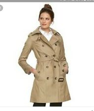 XL womens croft and borrow double breasted tan trench coat