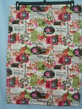 """NEW PARIS THEME, QUILTED CAT OR DOG  MAT 20""""X 28"""""""