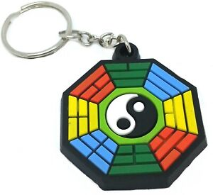 Yin Yang PVC Rubber Custom Key Rings Key chain