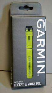 Garmin Quickfit 26 Watch Band Silicone Amp Yellow For Fenix 3 / 5X / Enduro