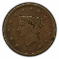 1840 1c Braided Hair Large Cent - Small Date - Original Fine/VF Coin - SKU-Z1340
