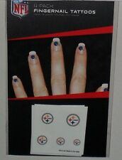 NFL PITTSBURGH STEELERS 20  TEMPORARY FINGERNAIL TATTOOS FAST FREE SHIPPING