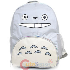 "My Neighbor Grey Totoro School Backpack  Large 16""  Bag  Smile Face Totoro Bag"