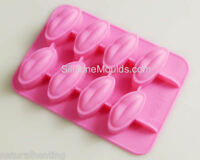 8 cell Lips Kiss Me Quick Silicone Chocolate Candy Mold Ice Mould Wax Melt Soap