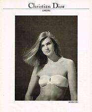 PUBLICITE ADVERTISING  1982   CHRISTIAN DIOR  soutien gorge