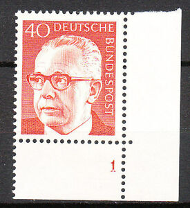 BRD 1970 Mi. Nr. 639 Postfrisch Eckrand 4 Formnummer 1 TOP!!! (9685)