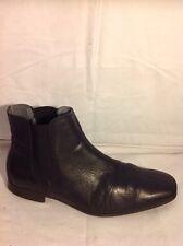Men's Boston Black Leather Boots Size 41