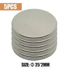 5Pcs Super Strong Round Disc Magnets Rare-Earth Neodymium Magnet N50 25mm x 2mm
