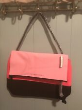 Victorias Secret Neoprene Insulated Cooler Beach Tote Bag Large Pink & Black