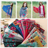 Embroidered Flower Scarf Cotton Women Long Wrap Bandana Scarves Girl Shawl Surpr