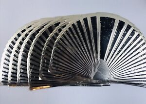 6 Vintage 80's Art Deco Gold Dinner Placemats Retro Fan Shell Shaped Regency