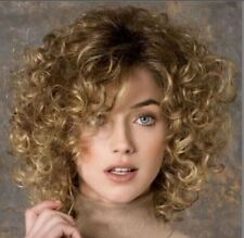 Fashion wig New Charm Women's Short Brown Blonde Curly Full wigs+Free wig cap