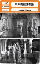 FICHE CINEMA : LE TOMBEAU HINDOU - Field,Michel,Karl,Eichberg 1937
