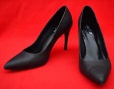 MARKS & SPENCER 'LIMITED EDITION' BLACK SPARKLY COURT SHOES - GREAT CONDITION!