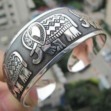 New Elephant Cuff Bracelet Tibetan Tibet Silver Totem Bangle and gift added