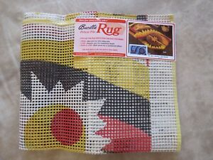 "Vintage Bucilla ""Aurora"" Latch Hook Rug Canvas"