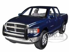 2002 DODGE RAM QUAD CAB BLUE 1/27 DIECAST MODEL CAR BY MAISTO 31963
