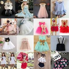 Toddler Girl Princess Dress Kids Baby Party Wedding Pageant Tutu Dresses Clothes