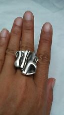 Beautiful vintage artisan studio  modernist sterling 925 ring size 8