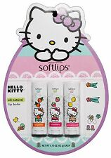 SOFTLIPS .15 oz 3pc Set Lip Balm HELLO KITTY SPRING PACK Limited Edition EASTER