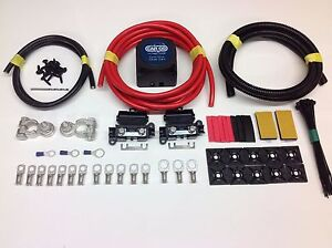 7mtr Professional Split Charge Kit HC Cargo 12v 140amp VSR Voltage Sense Relay