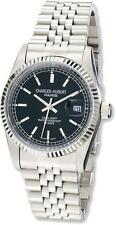 Mens Charles Hubert Stainless Steel Black Dial Watch