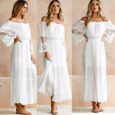 NEW LOVERS AND FRIENDS The Santa Barbara Off the Shoulder GOWN Sz 6 $360 BRIDAL