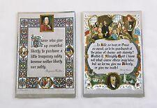 Vintage Benjamin Franklin and Patrick Henry Quotes Color Foil Etch Print Set