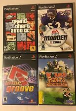 Lot Of 4 Play Station 2 Games GTA III MADDEN 2005 IN THE GROOVE WORMS FORT