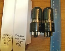 2 Strong Matched Hytron Gray Glass Jan-Chy-6V6Gt Tubes