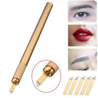 Lip Professional Tatto Needles Eyebrow  Embroidery Pen  Microblading Blade