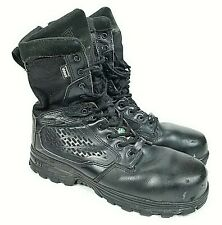 "5.11 TACTICAL EVO 8"" Mens Black Leather Tactical Boots Sz 10 Waterproof Combat"