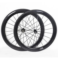 700C Wheels Carbon Tubular 21mm 56mm Road Bike Rims UD Glossy Novatec Hub 11s