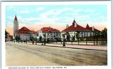 BALTIMORE, Maryland  MD   GOUCHER COLLEGE   St. Paul & 23rd Street  Postcard