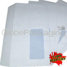 2000 x DL WINDOW WHITE SELF SEAL ENVELOPES 120x210mm