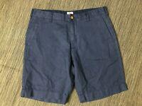 """Faherty Adult Mens 31 Shorts 9"""" Blue Linen Cotton"""