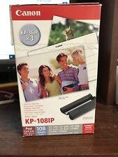 """Canon KP-108IP Tinta de Color (KP-36IP X 3) con 108 4"""" X 6"""" hojas de papel de impresión"""