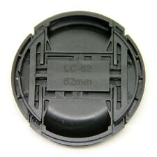 62mm Center Pinch Snap on Front Lens Cap Cover with String for Canon Nikon Sony