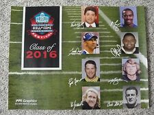 L#443  2016 Pro Football Hall of Fame Gold Jacket dinner poster Brett Favre NRMT
