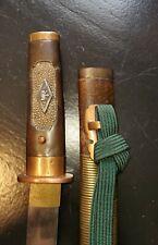 WW2 Japanese officer's SUICIDE KNIFE   OLD ANCESTRAL HIGH-END SAMURAI POSSI GOV
