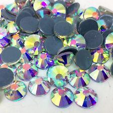 1440pcs ss16 4mm Clear AB  Iron On Hotfix Crystal Glass Rhinestones