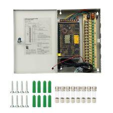 9CH/18CH Port CCTV Security Camera Power Supply Box Distribution 12V 5/10/20/30A