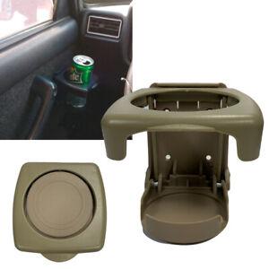 Universal Water Bottle Mug Holder Vehicle Beverage Stand Mount Brown TLS J2
