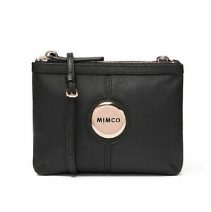MIMCO MIM Couch Bag Black Rose Gold • Cross body bag wallet •100% AUTHENTIC