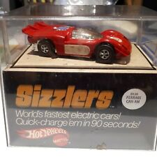 Hot Wheels Sizzlers Ferrari 512S new chrome, motor, super clean chassis